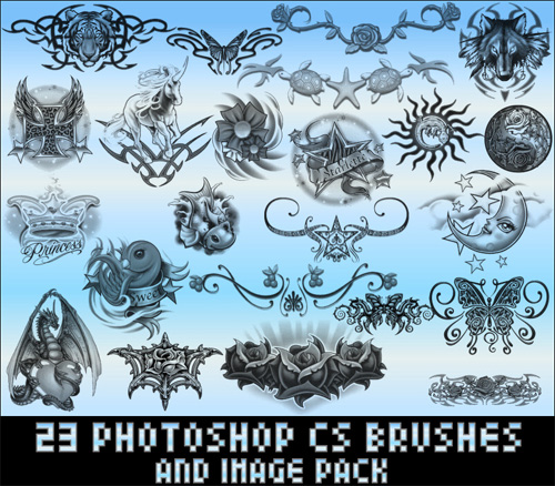 tribal photoshop brushes