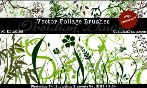foliage photoshop brushes