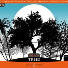 500+ Very Useful Tree Photoshop Brushes