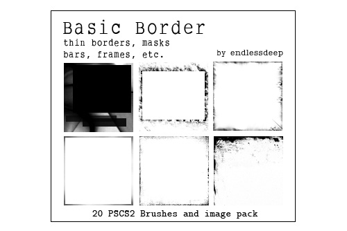 border photoshop brushes