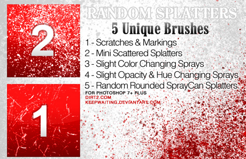 splatter photoshop brushes