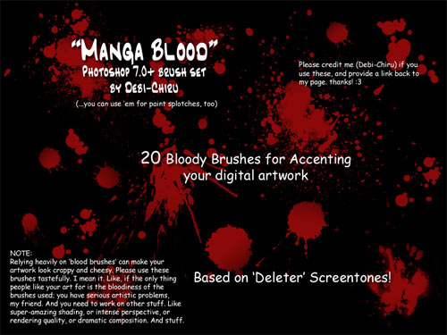 blood splatter photoshop brushes