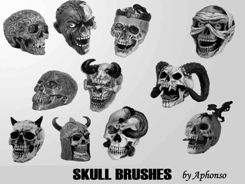 skull photoshop brushes