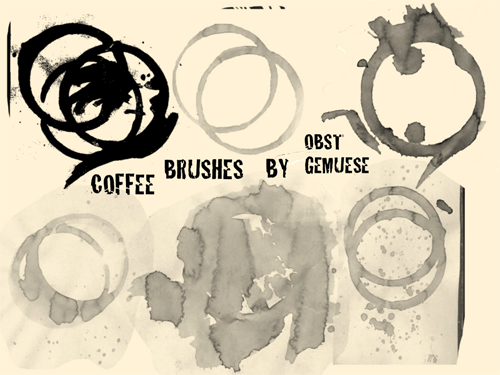 coffee stain brushes photoshop
