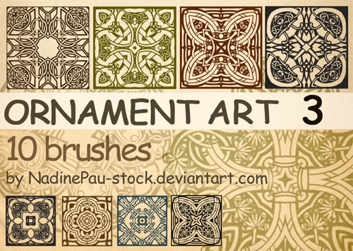 ornament photoshop brushes