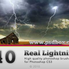 200+ Spectacular Lightning Photoshop Brushes