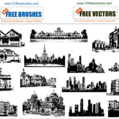 20 Sets of Building Photoshop Brushes for Urban-Themed Designs