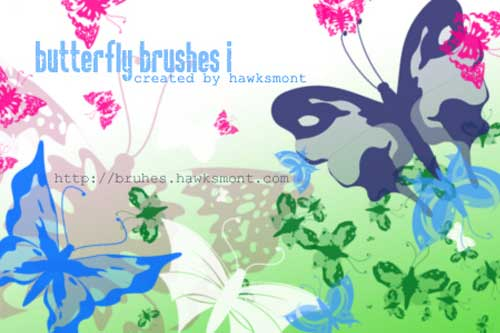 butterflies photoshop brushes