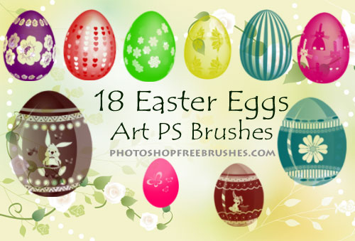 easter egg photoshop brushes