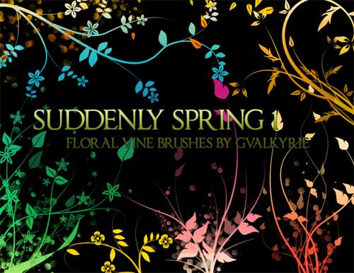spring swirls photoshop brushes