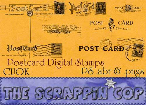 vintage postcard photoshop brushes