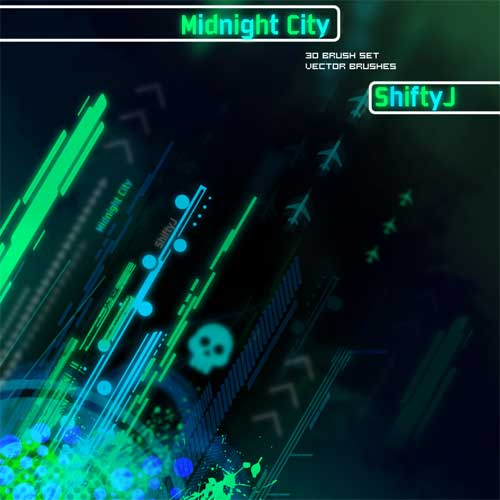 city lights abstract high-tech photoshop brushes