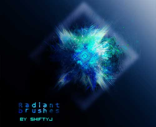 radiant fractal photoshop brushes