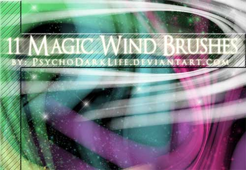 magic wand sparkle photoshop brushes