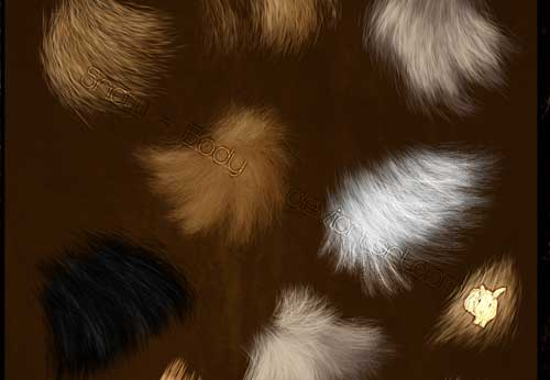 animal fur photoshop brushes