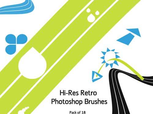 retro shapes and design elements brushes for photoshop