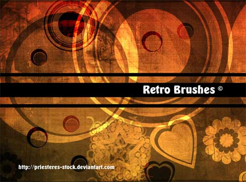 retro circles ornaments photoshop brushes