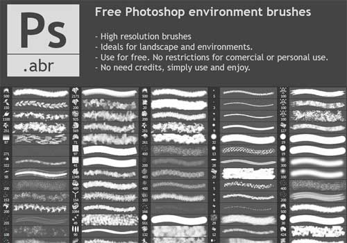 environment plants photoshop brushes