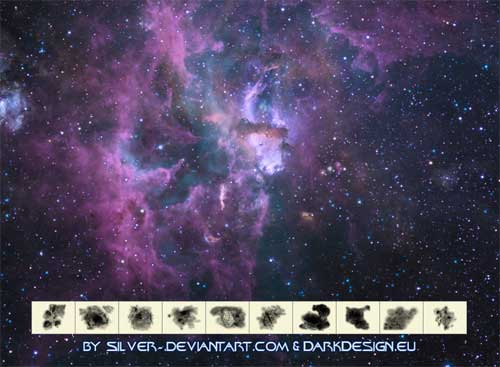 space nebula sky photoshop brushes