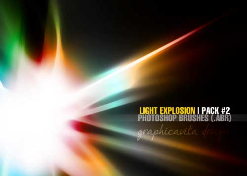 light explosion photoshop brushes
