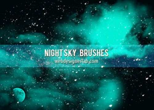 night sky photoshop brushes