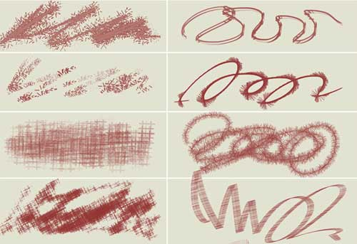 pencil strokes doodle photoshop brushes