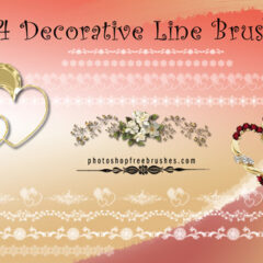 14 Beautiful Decorative Line Brushes for Photoshop