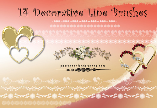 decorative line brushes