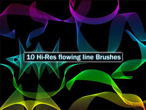 flowing line photoshop brushes