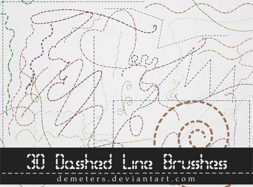 dashed line photoshop brushes