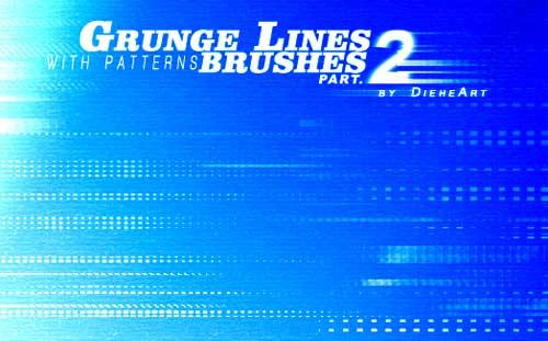 grunge line photoshop brushes