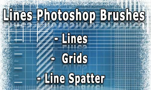 line photoshop brushes-grid and patterns