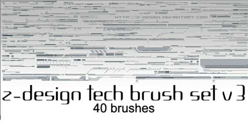 Photoshop Tech Brushes