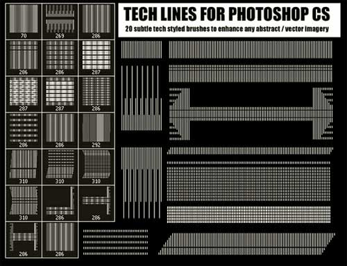 high-tech line photoshop brushes