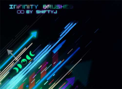 line photoshop brushes-infinity