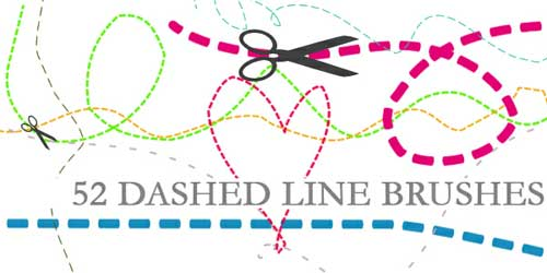 dashed line photoshop brushes