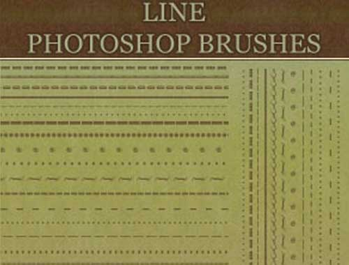 border line photoshop brushes