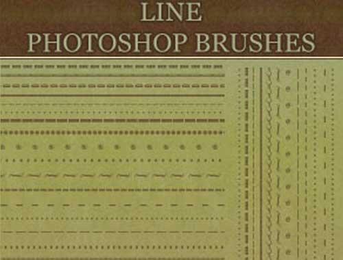 border line photoshop brushes