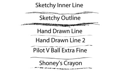 sketched hand drawn line photoshop brushes