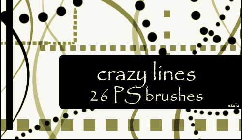 abstract crazy line photoshop brushes