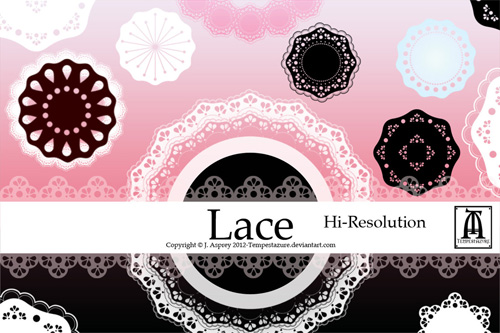 large lace brushes