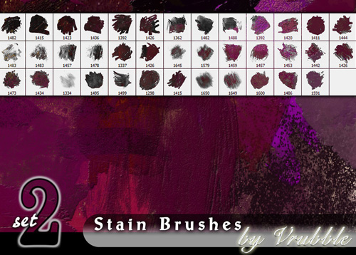 stain brushes for photoshop