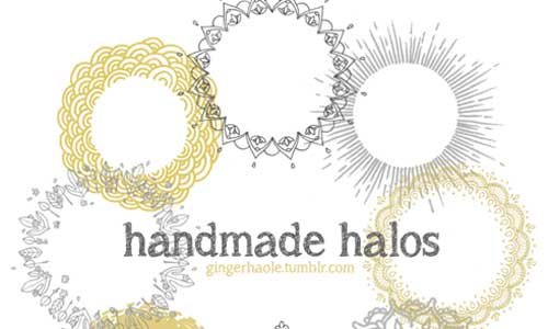 halos photoshop brushes