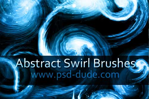 swirl abstract photoshop brushes