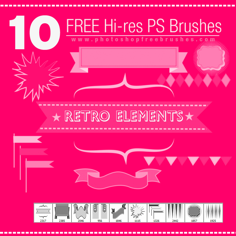 free retro design elements photoshop brushes