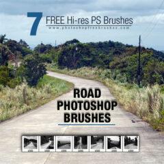 Road Background Photoshop Brushes