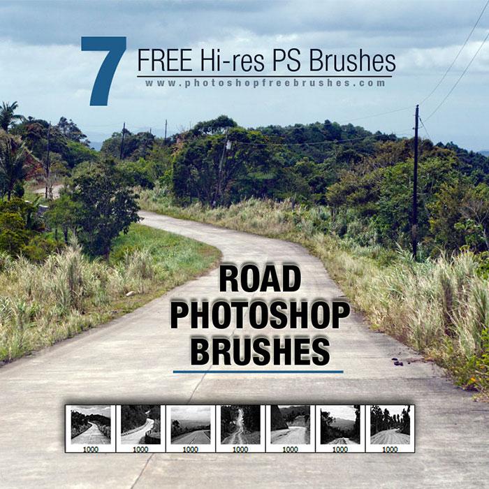 road photoshop brushes