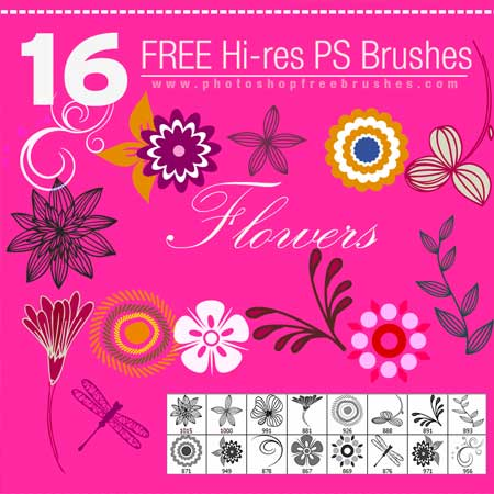 floral-brushes
