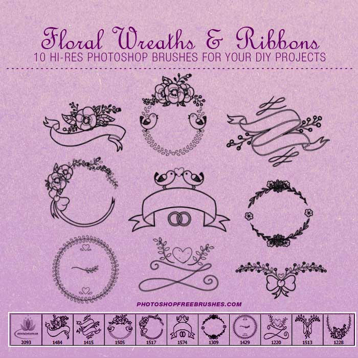 Floral Wreaths PS Brushes | PHOTOSHOP FREE BRUSHES