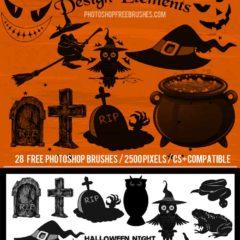 28 Free Halloween Design Elements Brushes